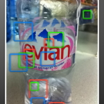 Evian Bottle analysed by Google Goggles