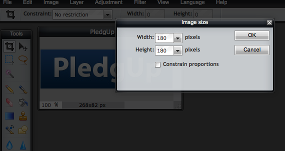 Pixlr Editor Image Resize Digitalised Communications